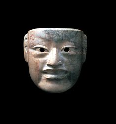 Olmec Jade Mask w/ Extensive Incised Design by Ancient Art, Mexico http://www.flickriver.com/photos/antiquitiesproject/sets/72157624144709586/