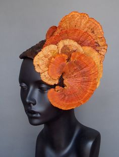 Oh please!!!!    Orange Fungus Headdress Headpiece. $145.00, via Etsy.
