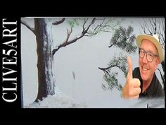 Old England at Xmas,#1 ,Acrylic painting for beginners, #clive5art - YouTube