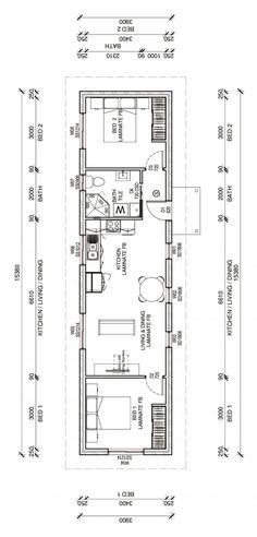CONRADPLUS 2D FLOORPLAN Narrow House Plans, Small House Floor Plans, My House Plans, Modern House Plans, Building A Container Home, Container House Plans, Container House Design, Small House Design, House Layout Plans