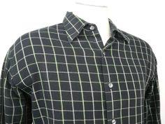 mens - PERRY ELLIS PORTFOLIO - shirt - XL - Free Ship #PerryEllisPortfolio #ButtonFront