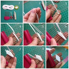 Angel on a comb - quilling - very good tutorials - several