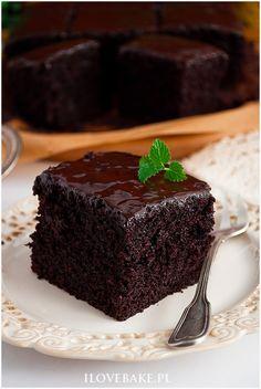Ciasto czekoladowe z coca-colą - I Love Bake Pepsi, Coca Cola, Types Of Cakes, Recipies, Pudding, Pasta, Sweets, Baking, Food