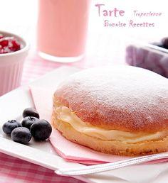 tarte tropezienne3 Cake & Co, French Food, Flan, Baguette, Deserts, Dessert Recipes, Bread, Snacks, Baking