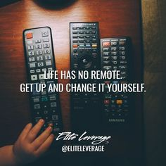 If you want something important changed you have to do it yourself! Get up and do it!