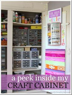 Craft-supply-storage-ideas - WOW best craft cabinet organization!!!