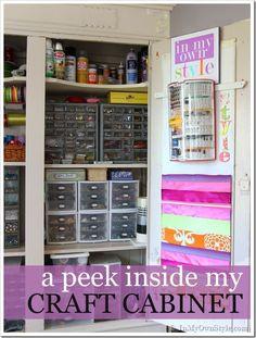 Craft-supply-storage-ideas - WOW best craft cabinet organization!!!