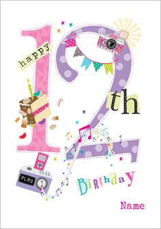 Happy 12th Birthday Wishes Girl Messages Cards Greeting Words