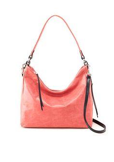 Hobo The Original Delilah Coral Italian Leather Zip Closure Hobo #Doris_Daily_Deals #Bonanza www.bonanza.com/listings/457772098