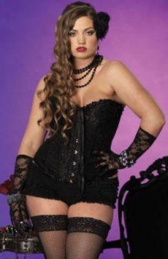 fcf3799b5db Plus Size Black Lace Sasha Corset - Show off your curves in this sexy black  Plus