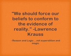 We should force our beliefs to conform to the evidence of reality. Lawrence Krauss, Meaningful Words, Wisdom, Sayings, Live, Quotes, Prints, Quotations, Lyrics