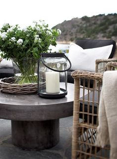 love these outdoor rooms Outdoor Space Outdoor living great potting table! Outdoor Rooms, Outdoor Gardens, Outdoor Living, Outdoor Furniture, Outdoor Decor, Furniture Ideas, Outdoor Seating, Outdoor Candles, Outdoor Patios