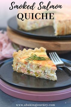 Super easy quiche recipe with Smoked Salmon, Leeks and Cottage Cheese. This Smoked Salmon Quiche is Smoked Salmon Quiche, Smoked Salmon Recipes, Fish Recipes, Seafood Recipes, Recipies, Quiche Recipes, Brunch Recipes, Breakfast Recipes, Dessert Recipes
