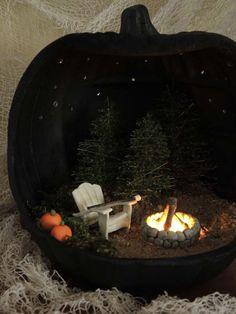 Halloween pumpkin decorating ideas inspired by the fairy garden pumpkin forest
