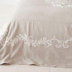 COLCHA Y FUNDA DE COJÍN LINO BORDADO - Colchas - Cama   Zara Home México Zara Home, Bed Spreads, Bed Sheets, Bed Pillows, Pillow Cases, The Unit, Blanket, Bedroom, Bedding