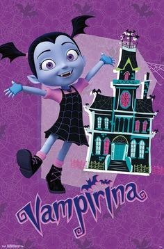 Trends International Disney Vampirina - House Wall Poster, x Mahogany Framed Version 22nd Birthday, Girl Birthday, Birthday Parties, Birthday Quotes, Halloween Invitaciones, Disney Princess Toddler, Cute Christmas Wallpaper, Barn Wood Frames, Trunk Or Treat