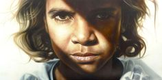 Archibald Prize People's Choice Winner – Vincent Fantauzzo's portrait of child actor ...Brandon Walters. I loved this painting had to get right up close before I could see any brush strokes...