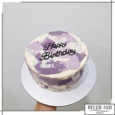 Pretty Birthday Cakes, Happy Birthday Cakes, Pretty Cakes, Cake Birthday, Mini Cakes, Cupcake Cakes, Simple Cake Designs, Simple Birthday Cake Designs, Simple Cakes