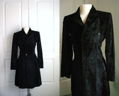 Vintage Ralph Lauren black coat/ short rabbit faux by Vintagiality, $189.00