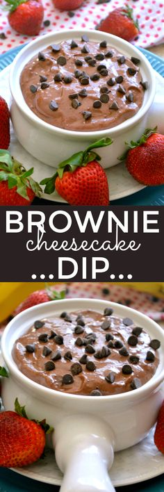 Rich, creamy Brownie Cheesecake Dip...made with just 3 ingredients!