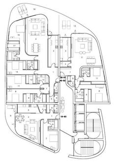 A and B towers Zaha Hadid Projects, Architectural Floor Plans, Villa Plan, Building Layout, Apartment Floor Plans, Residential Complex, Apartment Layout, Site Plans, Unit Plan