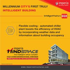 Millennium City's First Truly Intelligent Building Flexible cooling-automated chiller plant boosts the efficiency of HVAC by incorporating weather data and information about building occupancy Weather Data, Smart City, Flexibility, Conditioner, How To Apply, Plant, How To Plan, Building, Back Walkover