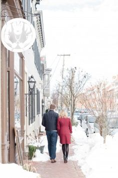 Snowy Engagement Session | Frederick Maryland |  Hill Studios Photography