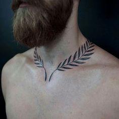 #tattoo #floral #mantattoo #necktattoo