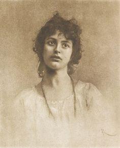 Die Kunst in der Photographie : 1898.  Photographer: C. Rugosa Title: Studienkopf