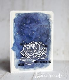 Kartenwind : Watercolor Card with KesiArt die-cut and #danipeuss cardkit october 2015 #kartenwind #kesiart #diecutting #cardmaking #cardkit