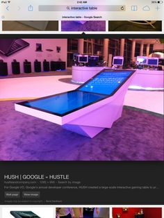 Bended interactive table