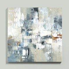 Abstract Layers White and Gray Art