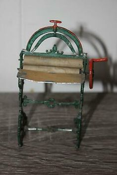Antique Metal Toy Lead Wringer Hand Painted  | eBay
