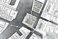 Chosen to Develop Christiansholm Island in Copenhagen COBE Chosen to Develop Christiansholm Island in Copenhagen. Image © COBECOBE Chosen to Develop Christiansholm Island in Copenhagen. Architecture Site Plan, Masterplan Architecture, Architecture Graphics, Architecture Visualization, Architecture Drawings, Architecture Diagrams, Library Architecture, Urban Architecture, Residential Architecture