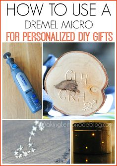 How to Use a Dremel Micro Rotary Tool to create these artistic DIY gift ideas!