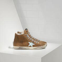 Golden Goose Fancy Sneakers In Suede With Leather Star Men - Golden Goose / GGDB