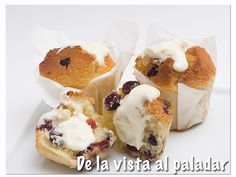Muffins de arándanos y crema de queso