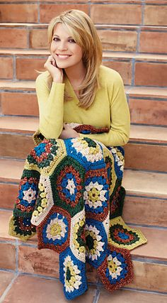 Ravelry: Hexagon Granny Afghan pattern by Lion Brand Yarn