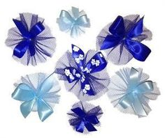 Blue Dog Grooming Bows