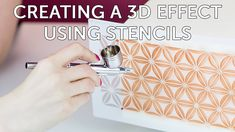 How To Create a 3D Effect with Stencils - A Tutorial by Cassie Brown