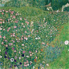 Gustav Klimt, Klimt Art, Baumgarten, Wall Murals, Wall Art, Italian Garden, Garden Painting, Renoir, Rembrandt