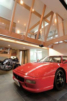 Love the idea of looking down into my garage. Garage Loft, Garage House, Dream Garage, Diy Garage, Garage Ideas, Porte Cochere, Halle, Garage Design, House Design
