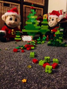 Day 8: the creative little elves have been busy building Christmas trees.