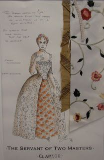 Costume Designer: Servant of Two Masters Paper Doll House, Paper Dolls, Fashion Illustration Sketches, Fashion Sketches, College Subjects, Rococo Dress, Costume Design Sketch, Theatre Costumes, Dress Drawing