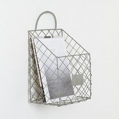 Wire Magazine Basket - contemporary - storage and organization - Terrain