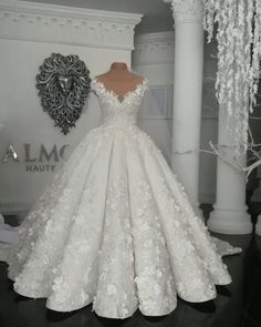 May 2020 - Ball Gown Wedding Dresses, Princess Wedding Dresses, Dream Wedding Dresses Crystal Wedding Dresses, Sheer Wedding Dress, Top Wedding Dresses, Amazing Wedding Dress, Lace Mermaid Wedding Dress, Princess Wedding Dresses, Cute Wedding Dress, Bridal Dresses, Lace Wedding