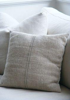 I love linen pillows