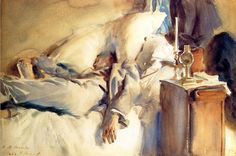 The Athenaeum - Peter Harrison Asleep (John Singer Sargent - ) 1905
