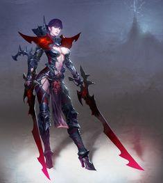 Female dark warrior