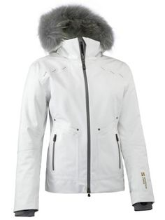 rider jacket white with fur - mountain force - designers - Gorsuch
